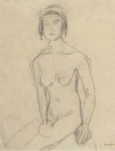 Gwen John - Seated female nude