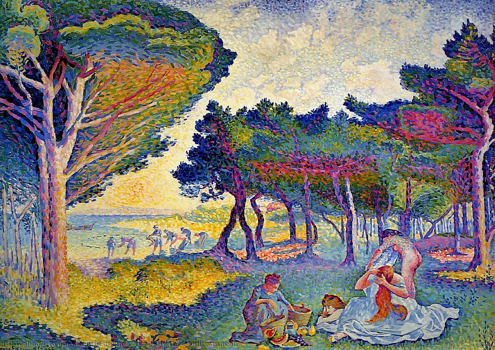 By the Mediterranean by Henri Edmond Cross (1856-1910, France) | Painting Copy | WahooArt.com