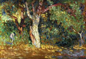 Henri Edmond Cross - Study for -In the Woods with Female Nude-