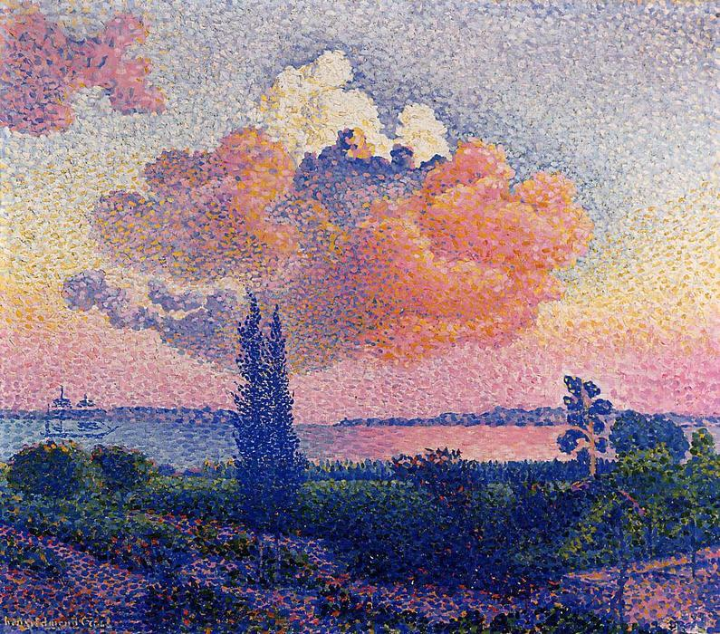 The Pink Cloud, 1896 by Henri Edmond Cross (1856-1910, France) | Oil Painting | WahooArt.com