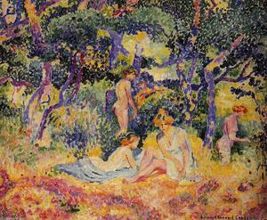 Order Painting Copy : The Woods, 1906 by Henri Edmond Cross (1856-1910, France) | WahooArt.com