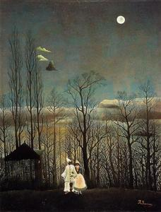 Henri Emilien Rousseau - A Carnival Evening - (oil painting reproductions)