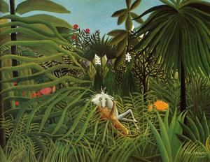 Henri Julien Félix Rousseau (Le Douanier) - Horse Attacked by a Jaguar
