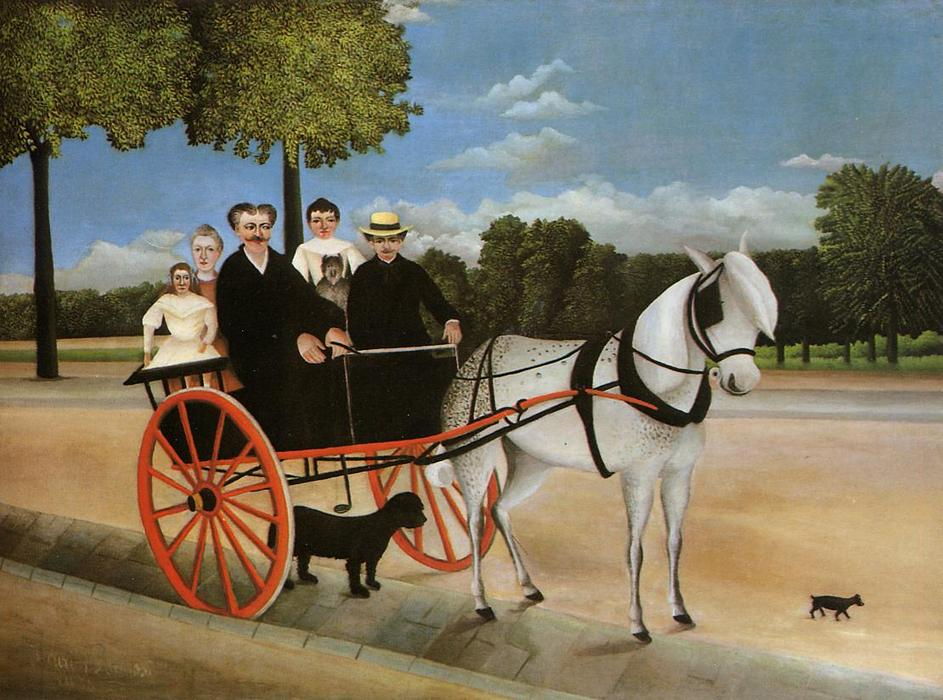 Old Junior's Cart, Oil On Canvas by Henri Julien Félix Rousseau (Le Douanier)