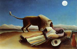Henri Julien Félix Rousseau (Le Douanier) - Sleeping Gypsy - (Buy fine Art Reproductions)