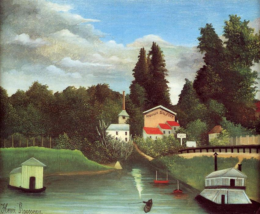 The Mill at Alfort, 1904 by Henri Julien Félix Rousseau (Le Douanier) | WahooArt.com