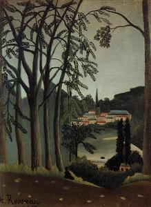 Henri Julien Félix Rousseau (Le Douanier) - View of Saint Cloud