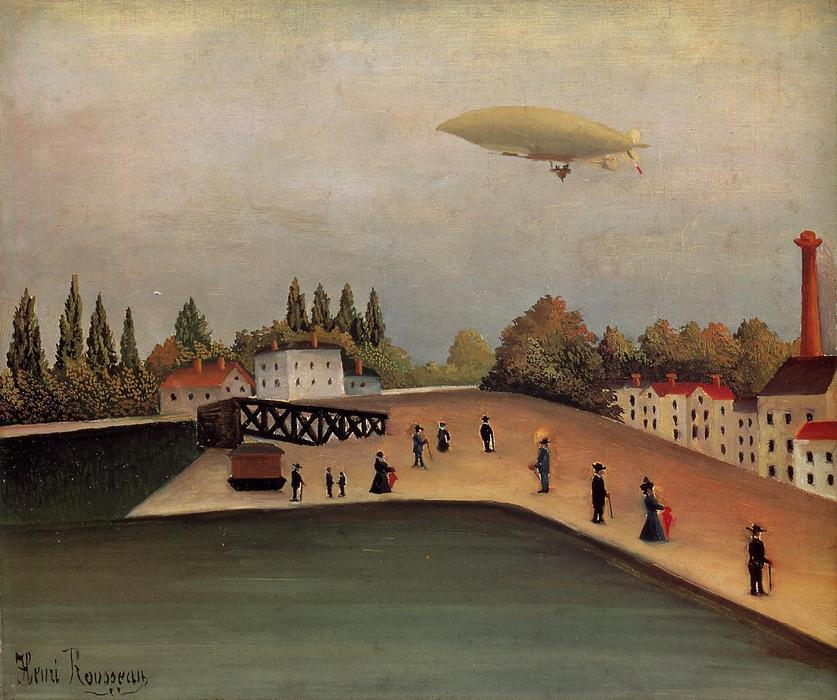View of the Quai d'Ovry, Oil On Canvas by Henri Julien Félix Rousseau (Le Douanier)
