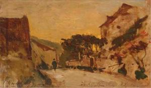 Henri-Joseph Harpignies - The entrance to the village