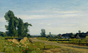 Henri-Joseph Harpignies - The railway at a Saint Prive