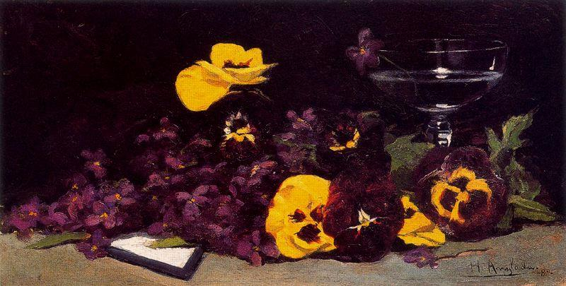 Flowers and Cup by Hermen Anglada Camarasa (1872-1959, Spain) | Museum Quality Reproductions | WahooArt.com