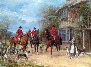 Heywood Hardy - A Halt at the Inn