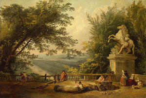 Hubert Robert - Ruins on the Terrace in Marly Park