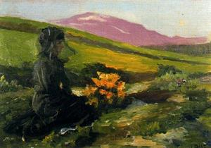 Ignacio Díaz Olano - Women dressed in black with landscape