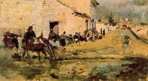 Ignacio Pinazo Camarlench - Street next to the Turia