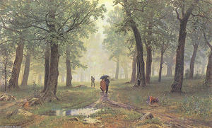 Ivan Ivanovich Shishkin - Rain in the Oak Grove