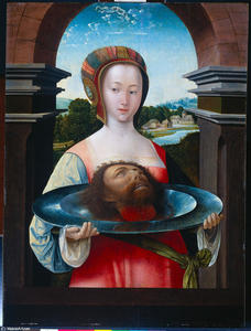 Jacob Cornelisz Van Oostsanen - Salome with the head of John the Baptist