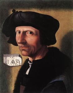 Jacob Cornelisz Van Oostsanen - Self­Portrait