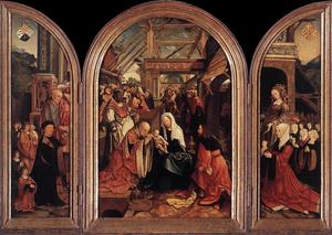 Jacob Cornelisz Van Oostsanen - Triptych of the Adoration of the Magi