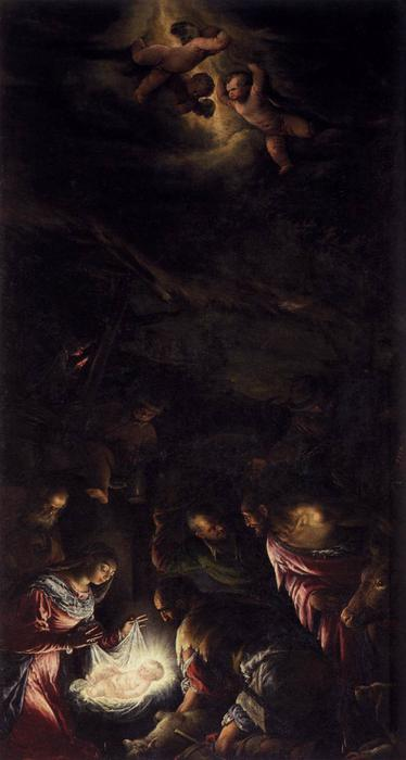 Adoration of the Shepherds 2 by Jacopo Bassano (Jacopo Da Ponte) (1510-1592, Italy) | Museum Quality Reproductions | WahooArt.com