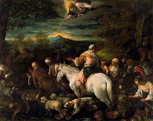 Jacopo Bassano (Jacopo Da Ponte) - Departure of Abraham and his family and livestock to the land of Canaan