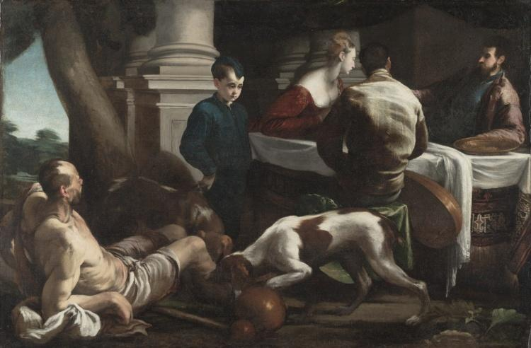 Lazarus and the Rich Man by Jacopo Bassano (Jacopo Da Ponte) (1510-1592, Italy) | Museum Quality Reproductions | WahooArt.com