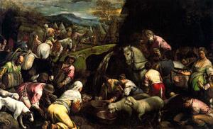 Jacopo Bassano (Jacopo Da Ponte) - The Israelites drink the miraculous water