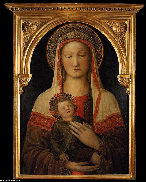 Madonna and Child, 1450 by Jacopo Bellini (1396-1470, Italy) | Museum Quality Reproductions | WahooArt.com