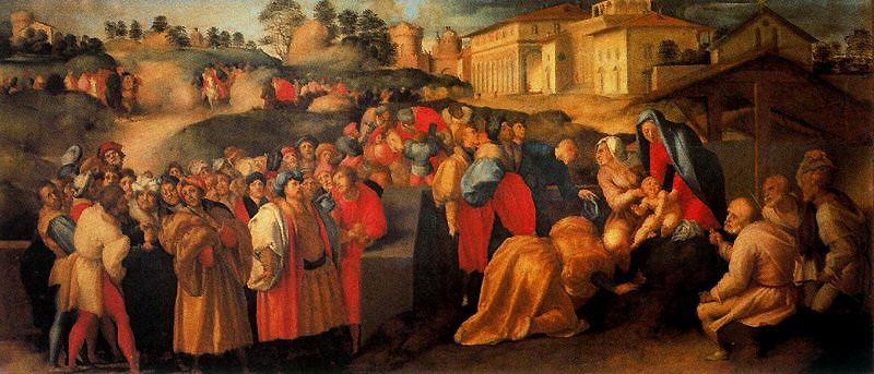 Adoration of the Magi by Jacopo Carucci (Pontormo) (1494-1557, Italy) | Museum Quality Reproductions | WahooArt.com