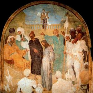 Order Art Reproduction : Christ Standing before Pilate by Jacopo Carucci (Pontormo) (1494-1557, Italy) | WahooArt.com