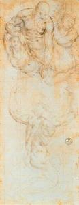 Jacopo Carucci (Pontormo) - Compositional study for Moses Receiving the Tables of the Law