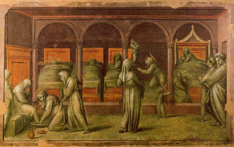 Episode from Hospital Life by Jacopo Carucci (Pontormo) (1494-1557, Italy)
