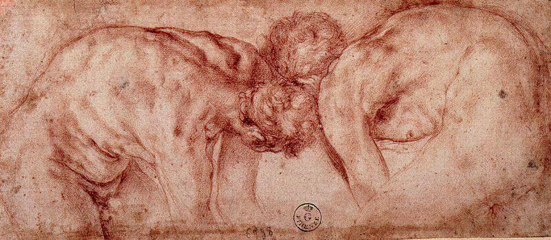 Figure study 1 by Jacopo Carucci (Pontormo) (1494-1557, Italy) | WahooArt.com