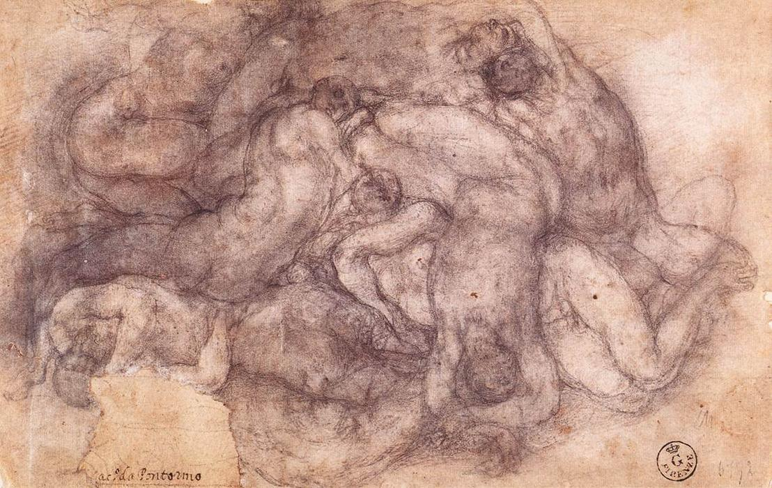 Group of the Dead by Jacopo Carucci (Pontormo) (1494-1557, Italy) | Museum Quality Reproductions | WahooArt.com