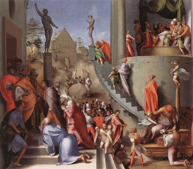 Joseph in Egypt by Jacopo Carucci (Pontormo) (1494-1557, Italy)