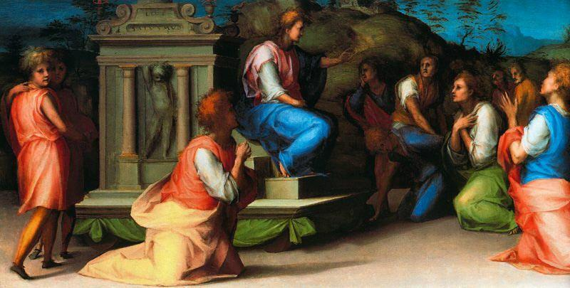 Joseph Revealing Himself to his Brothers 1 by Jacopo Carucci (Pontormo) (1494-1557, Italy)