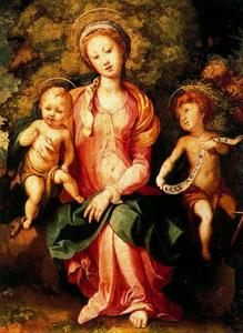 Jacopo Carucci (Pontormo) - Madonna and Child with the Young Saint John