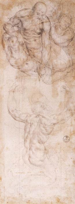 Moses Receiving the Tables by Jacopo Carucci (Pontormo) (1494-1557, Italy)