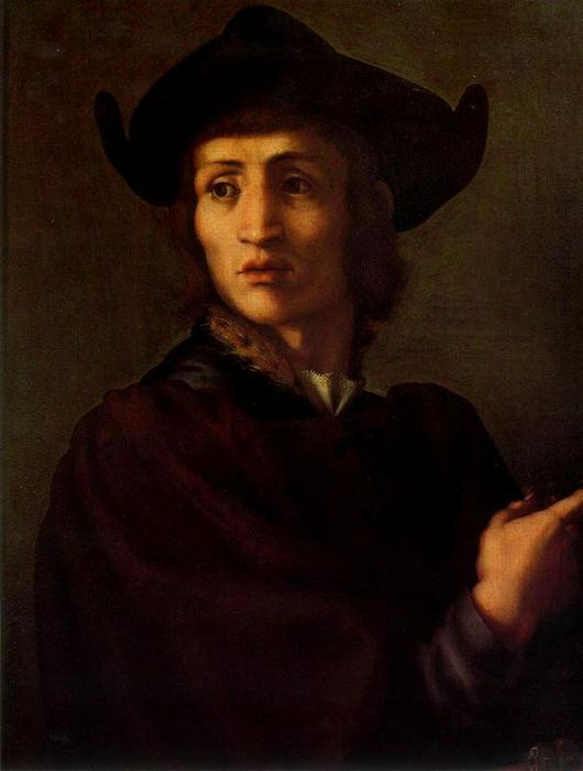 Portrait of a Jeweler by Jacopo Carucci (Pontormo) (1494-1557, Italy)