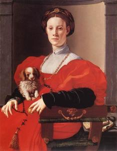 Jacopo Carucci (Pontormo) - Portrait of a Lady in Red
