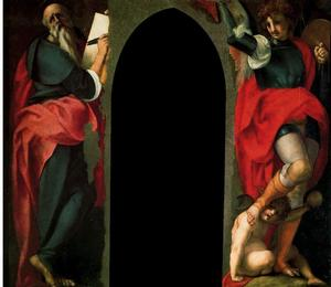 Jacopo Carucci (Pontormo) - St. John the Evangelist and St. Michael the Archangel