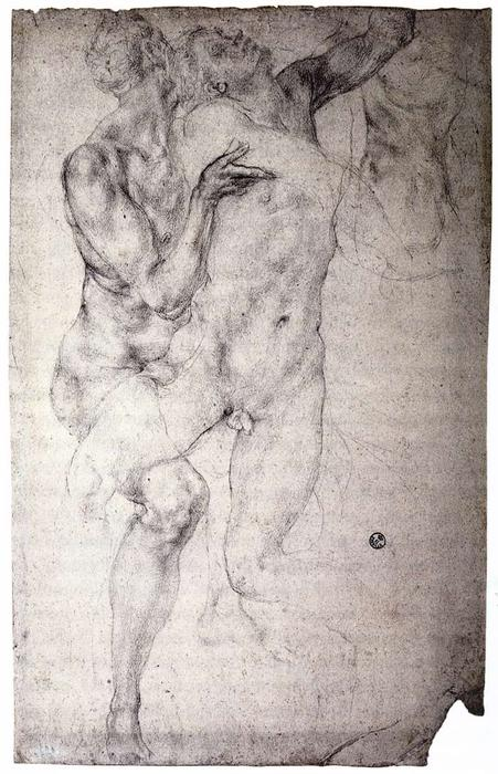 Two nudes by Jacopo Carucci (Pontormo) (1494-1557, Italy)