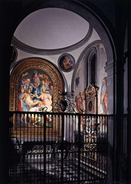 View of the Capponi Chapel by Jacopo Carucci (Pontormo) (1494-1557, Italy) | WahooArt.com