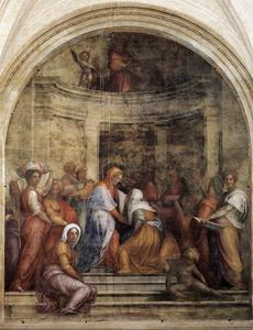 Jacopo Carucci (Pontormo) - Visitation - (Famous paintings reproduction)