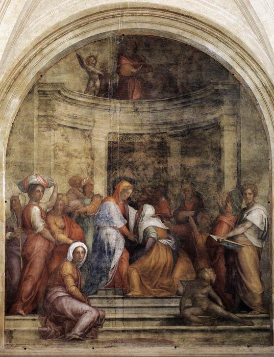 Visitation, 1528 by Jacopo Carucci (Pontormo) (1494-1557, Italy)