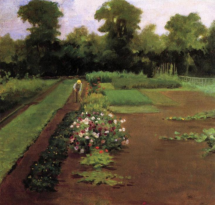 Order Reproductions | New Hamburg Garden, 1910 by James Carroll Beckwith (1852-1917, United States) | WahooArt.com