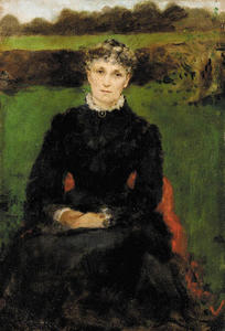 James Carroll Beckwith - Portrait of the Artist-s Mother