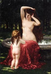 James Carroll Beckwith - Sylvan Toilette