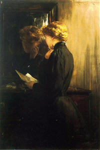 Order Museum Quality Copies | The Letter, 1910 by James Carroll Beckwith (1852-1917, United States) | WahooArt.com
