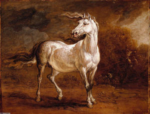 James Ward - A Cossack Horse in a Landscape